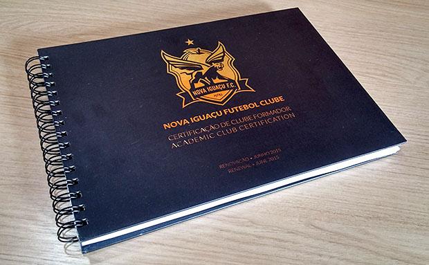 Livro-documento do Nova Iguaçu para obter a renovação do Certificado de Clube  Formador da CBF 5e389e982a8ba